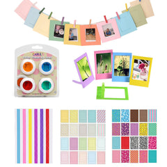 4 Kleuren Filter + Stickers + Fotolijst Voor Fujifilm Instax Mini 8, 8 +, 7 s, 9, Hello Kitty Instant Camera & Fotopapier Films