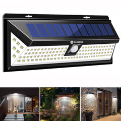 AUGIENB Garden Wall Light 118LED Solar PIR Motion Sensor Outdoor Waterdichte Lamp