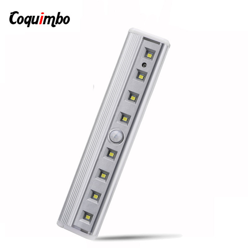 8 Led Nachtlampje Bar Motion Sensor Licht Closet Onder Kast Licht Battery Operated Draadloze Garderobe Lamp Voor Trappen Bed
