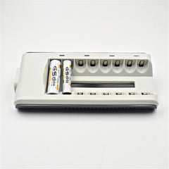 8 slots smart led batterij oplader voor aa/aaa mh/ni-cd oplaadbare batterijen super quick lading