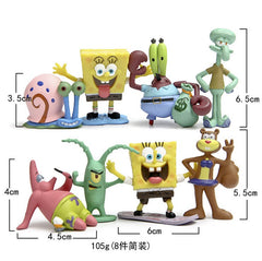 8 stks/set Aquarium Landscaping SpongeBob aquarium aquarium Decoratie, octo Tentakels, Patrick Star, Squidward, Krabs
