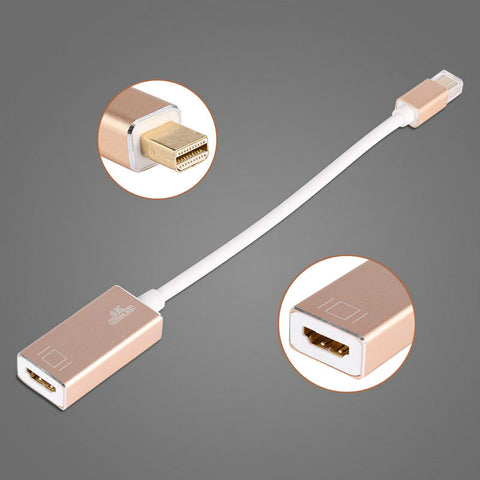 Legering Mini displayport-naar HDMI Adapter Kabel voor Macbook voor Lenovo voor ThinkPad voor Dell 4 K HD Mini DP naar HDMI Adapter