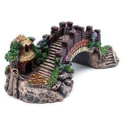 Aquarium Decoratie Aquarium Brug Landschap Ornamenten Pavilion Boom Hars