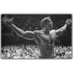 Arnold Schwarzenegger Bodybuilding Motivational Art Silk Poster Print Fitness Inspirational Foto voor Kamer Muur Decor
