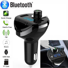 Bluetooth Auto Fm-zender Draadloze Radio Adapter MP3 Speler Plus USB charger Auto styling Dropship