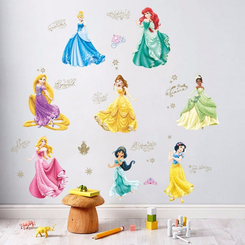 % Carton Prinses Kasteel Muurstickers Voor Kids Baby Nursery Behang Decoratieve Decor MeisjesPoster Thuis Decal Muurschilderingen