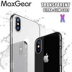 Hoesje iPhone X Soft Case Transparant Siliconen