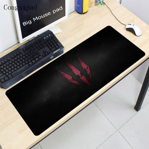 Congsipad De Witcher 3 Grote Maat 400*900*2mm Mouspad voor PC Computer Laptop Notebook Gaming Muis pad Stitiched Rand Mat