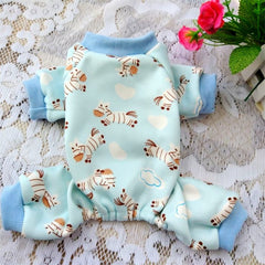 Hond Pyjama Leuke Cartoon Hond Kleding Winter Jumpsuit Chihuahua Yorkshire Terrier Poedel Puppy Pet Kostuum Warme Hond Jas