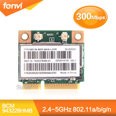 Dual Band Broadcom BCM943228HMB 802.11a/b/g/n 300 Mbps Wifi Draadloze Kaart Bluetooth 4.0 Half MINI pci-e Notebook Wlan 2.4 Ghz 5 Ghz