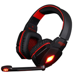 ELKE G4000 Pro USB 3.5mm Gaming hoofdtelefoon Stereo Bass Gamer Headsets Met Microfoon LED Verlichting Voor PC Computer Laptop Game