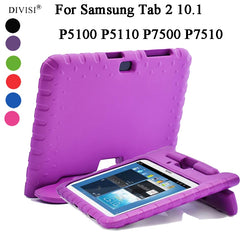EVA Foam Shockproof Case Voor Samsung Galaxy Tab 2 10.1 P5100 P5110 P7500 P7510 Funda Coque Kids Handle Stand Beschermende cover
