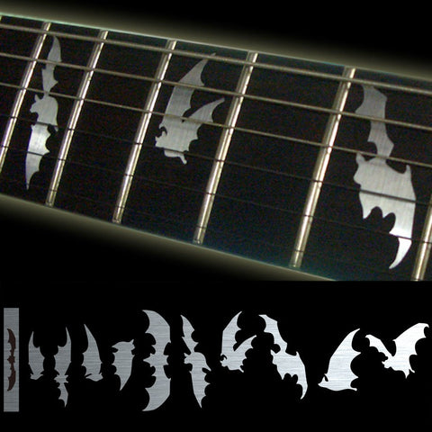 Fretboard Markers Inlay Sticker Decals voor Gitaar & Bass-Bat Wing-Metallic