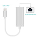 GOOJODOQ USB C Ethernet Adapter Netwerkkaart USB-C Type C naar Ethernet RJ45 Lan voor MacBook Windows 7/8 /10 Laptop 10/100 Mbps