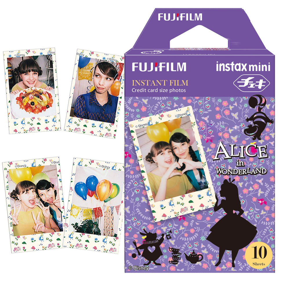 Echt Fujifilm Fuji Instax Mini Film 10 Shots Alice In Wonderland