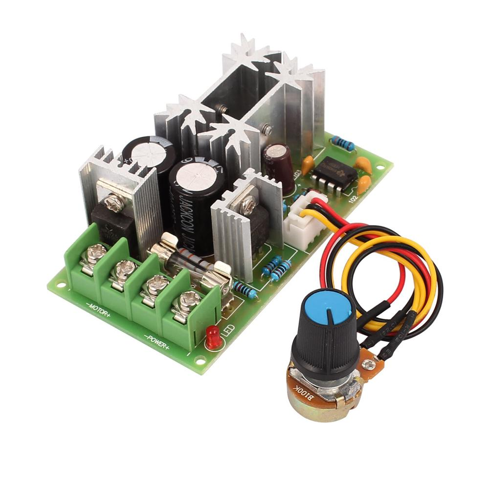 Universele 12 V 24 36 48 20a Pwm Dc Motor Speed Regulator How To Build Controller
