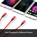 Multi Charger Cable Universele 3 in 1 Usb-oplaadkabel met Micro USB Type c Poort Kabel voor iPhone meest Android Telefoons