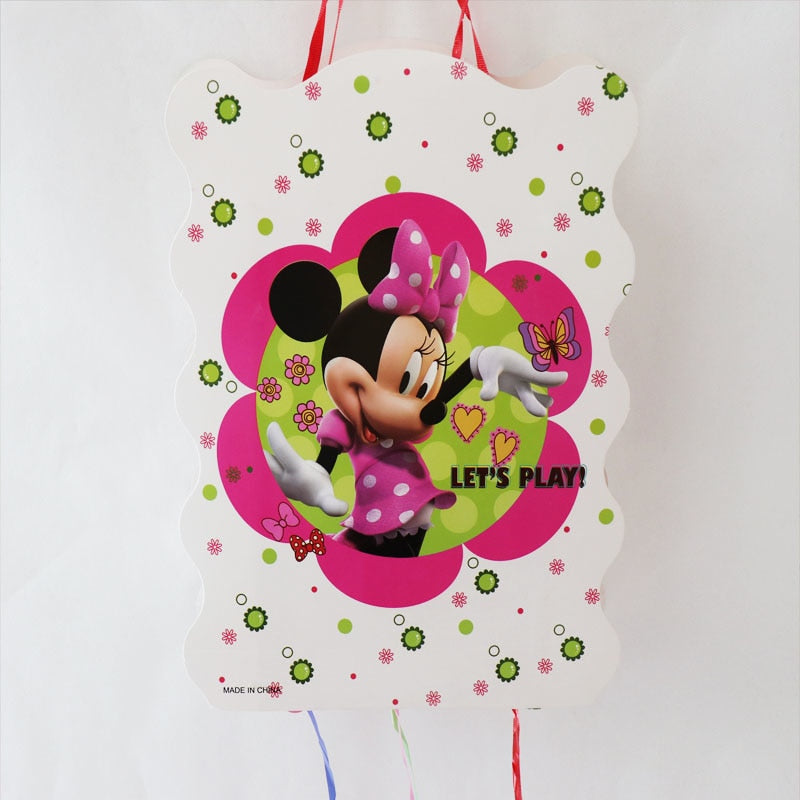 1 Set Minnie Mouse Thema Pinata Baby Douche Minnie Thema
