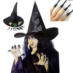 Halloween Heks Sets Vampire Kostuum Cosplay Glb + Neus + Nagel + Jaw + Tand Set Voor Party Fancy carnaval maskerade decoraties