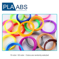 Koop 20 kleur of 10/set 3D Pen Filament ABS/PLA 1.75mm Plastic Rubber Afdrukken Materiaal Voor 3D Printer Pen Filament