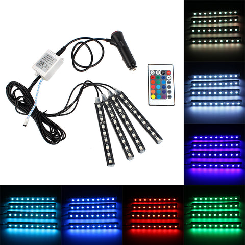 itimo led strip verlichting auto accessoires 9 led auto styling auto rgb sfeer lamp