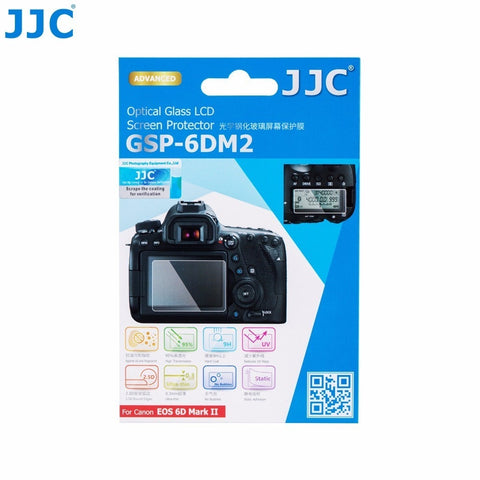 JJC Voor CANON EOS 6D Mark II ultradunne LCD Screen Protector Camera Display Cover