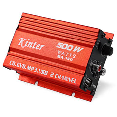 Kinter MA-150 Mini 500 W 5 V Hi-Fi Digitale Power Stereo Versterker Luidspreker Booster DVD MP3 Speaker voor auto Motorfiets