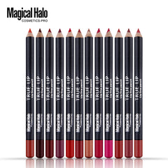 Magical halo 12 kleuren/set waterdichte professionele lip liner potlood langdurige multicolor lipliner pen up mh1603   Magical Halo