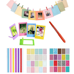 Markeerstift + Kleur Stickers + Fotolijsten Voor Fujifilm Instax Mini 8 7 s 9 25 50 70 90 Kitty Instant Camera SP-1 & Films Papier