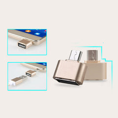 Mini Micro USB Naar USB OTG Adapter 2.0 Converter Voor Android Samsung Galaxy S3 S4 S5 Tablet Pc om Flash Muis Toetsenbord   ANBES