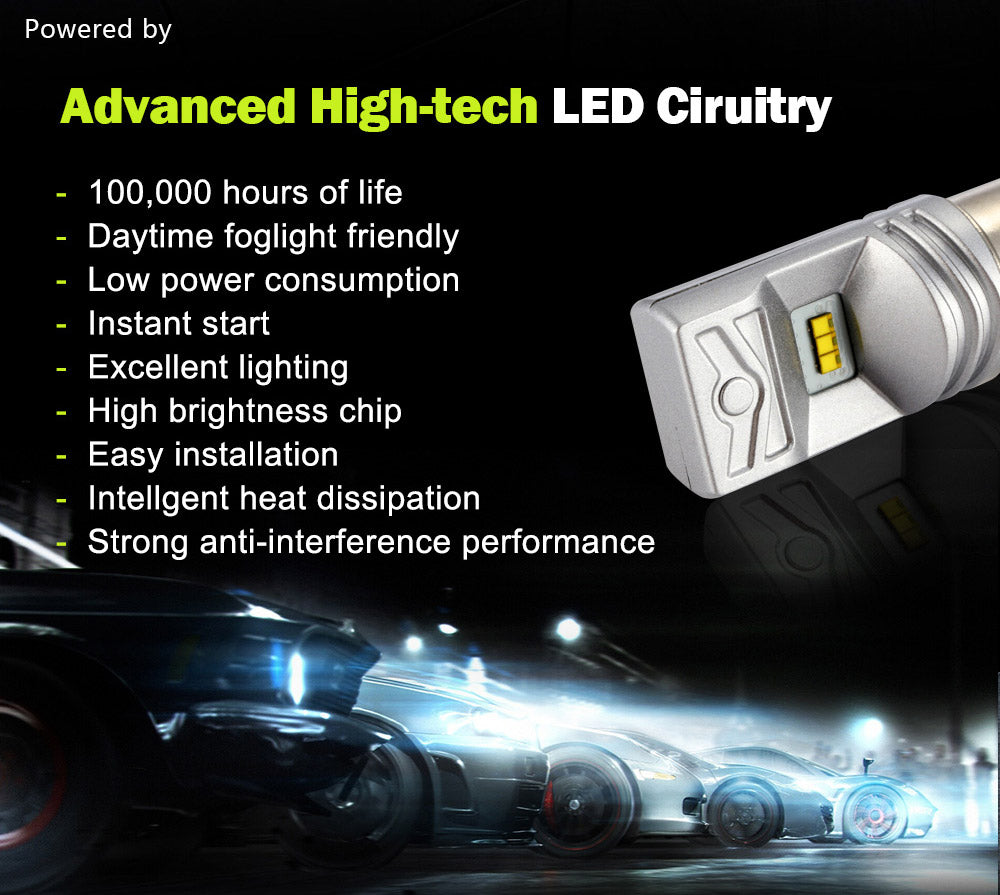 NIGHTEYE AUTO VERLICHTING S25 1156 BA15S 80 W 800LM P21W LED Lamp Wit Brake  Backup Led Mistlampen