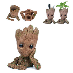 Hars Aquarium Decoratie Baby Groot Figuur Aquarium Plant Bonsai Pot Decor Aquarium Ornament Steen Cave Voor Vis Garnalen