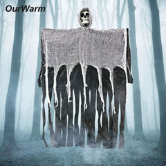 OurWarm 100 cm Halloween Opknoping Spook Spookhuis Opknoping Grim Reaper Horror Props Thuis Deur Bar Club Halloween Decoraties