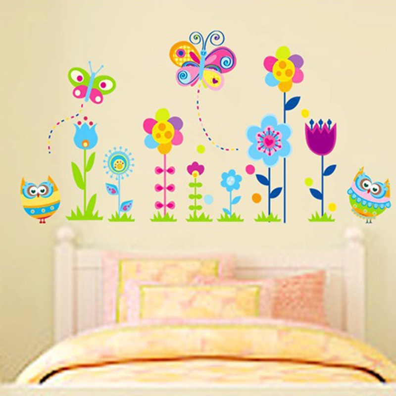 Decoratie Stickers Kinderkamer.Uil Muurstickers Kinderkamer Decoratie Dier Decals Verwijderbare