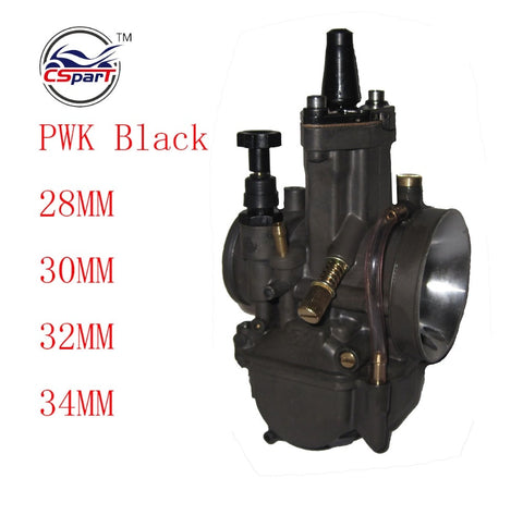 Racing PWK Zwart 28 30 32 34 28mm 30mm 32mm 34mm Carburateur Met Power Jet Voor keihin Koso OKO Motorfiets ATV