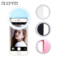 SCOMAS 36 LEDS Universele LED Selfie Ring Licht Clip Telefoon Camera Lamp Fotografie Selfie Schoonheid Verlichting voor Iphone Android