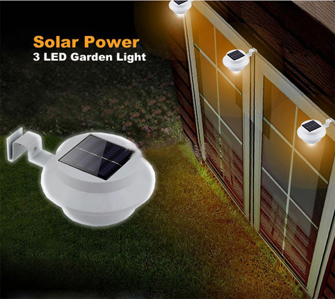 solar led tuinverlichting schutting lamp