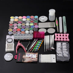 Pro 48 Manicure Decoratie Acryl Glitter Nail Art Tips Tool Kit Set