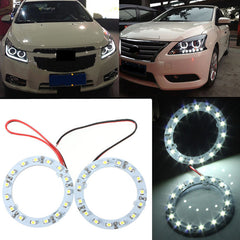 Paar 60mm witte auto Angel Eyes Lights HeadLight Halo Ring Lights 15 LEDs SMD Chip