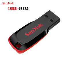 Sandisk 100% Originele usb 2.0 mini usb flash drive usb stick usb memory stick flash disk 128 GB Gratis lanyard
