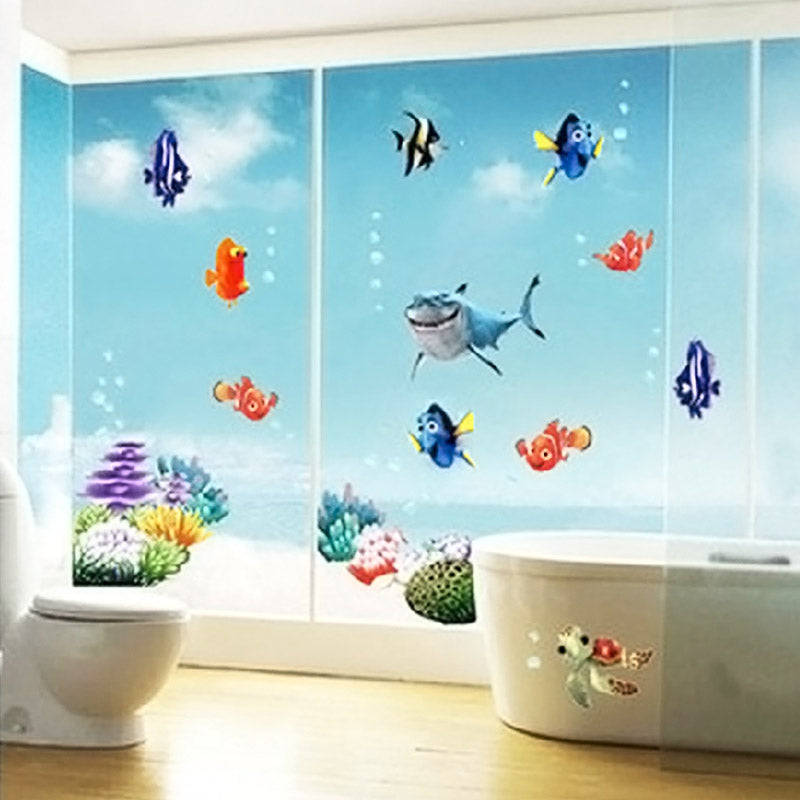 Zeebodem Vis Bubble NEMO Muursticker Cartoon Muursticker Voor ...