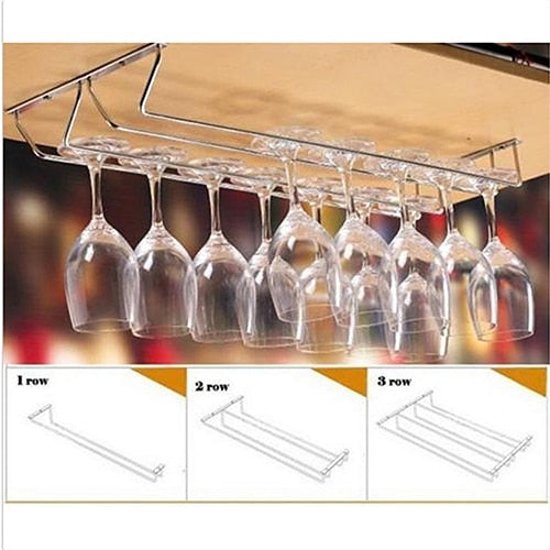 Rvs Kast Wijnglas Rack Keuken Bar Goblet Holder Hanger