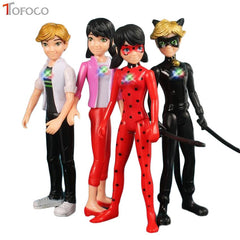 TOFOCO 1 stks/partij Wonderbaarlijke Lieveheersbeestje Comic Lady bug Pop Action Figure Speelgoed Leuke Anime Adrien Marinette Plagg Tikki PVC Figuur
