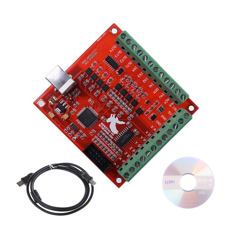 USB MACH3 100 Khz Breakout Board 4 Axis Interface Driver Motion Controller voor cnc router
