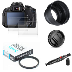 UV Filter + Zonnekap + Cap + Cleaning pen + 9 H Gehard Glas LCD Screen Protector voor Panasonic lumix FZ80 FZ82 FZ85 Camera