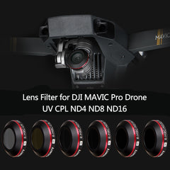 UV ND4 ND8 ND16 CPL Lens Filter voor DJI Mavic Pro Platinum Camera Drone Polarisatie Neutral Density Filter met Beschermende case