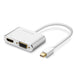2 in 1 Thunderbolt Mini displayport DP HDMI VGA Adapter Kabel 4 K 1080 P Mini DP Converter Macbook Microsurface      Ugreen
