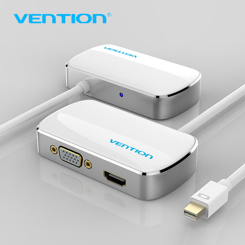 Ventie Thunderbolt HDMI VGA 4 K 2 in 1 Mini Displayport-naar HDMI VGA Adapter Kabel Voor Apple MacBook Pro iMac Mac HDTV projector   Vention