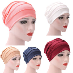 Vrouwen India Hoed Moslim Ruche Kanker Chemo Hoed Beanie Sjaal Tulband Head Wrap Cap Casual Katoen Blend comfortabele Zachte materiaal