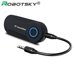 Draadloze Bluetooth Transmitter Stereo 3.5mm Jack Audio Music Adapter voor TV Telefoon PC Hoofdtelefoon Luidsprekers